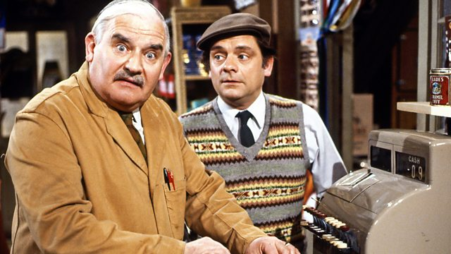 Picture - Open all Hours Arkwright (Ronnie Barker) and Granville (David Jason)